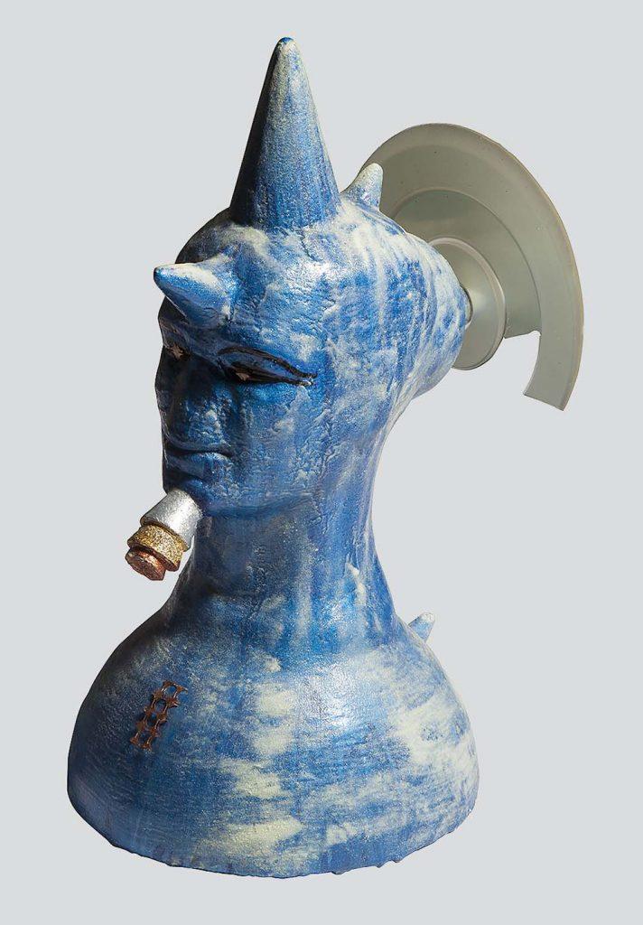L'antenato luce - sculture in resina giuseppe portella